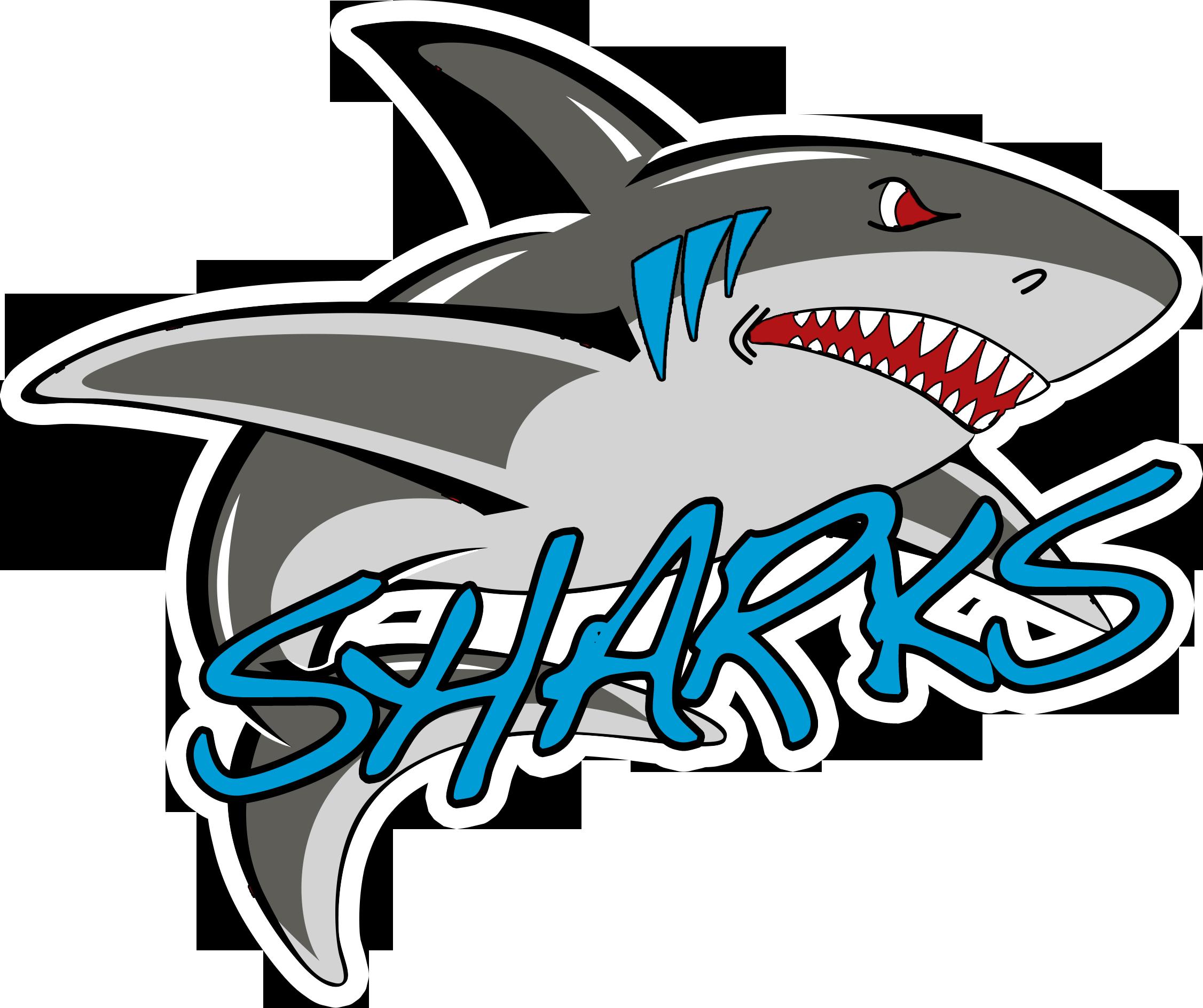 Картинка с надписью акула